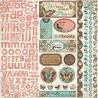 Gabrielle Butterflies W/ Alpha Stickers