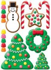 3D Christmas Candy Stickers