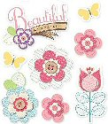 3D Beautiful Flowers Stickers