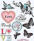 Butterflies & Birds Rub-Ons