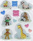 Baby Animals Epoxy Stickers