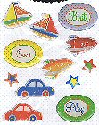 Transportation Epoxy Stickers