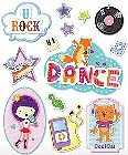 3D Dance Kids Stickers