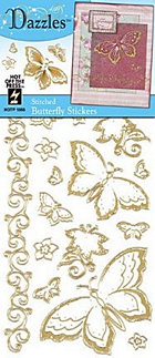 Gold Butterfly Outlines Stickers