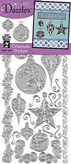Silver Ornament Outlines Stickers