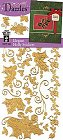 Gold Holly Outlines Stickers