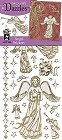 Glitter Gold Angel Outlines Stickers