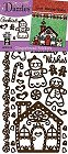 Christmas Gingerbread Outlines Stickers