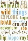 Roaring Zoo Words Rub-Ons