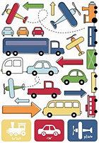 Cars & Trucks Rub-Ons