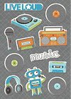 Live Loud Music Puffy Stickers