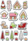 Cottage Christmas Epoxy Stickers