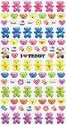 I Love Teddy Bears Kawaii Stickers