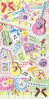 Sweet Music Satin Kawaii Stickers