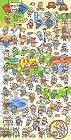 Many Happy People Kawaii Stickers