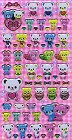 Cute Bears Hard Epoxy Kawaii Stickers