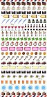 Mini Travel Icons Kawaii Stickers