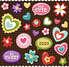 Heart Pillow Stickers