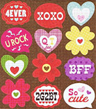 Valentines Day Flowers Stickers
