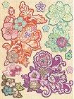 3D Jubilee Flowers W/ Gems Stickers
