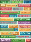 Puffy Confetti Birthday Words Stickers