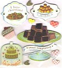 3D Chocolate Cake Stickers