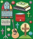 3D Church Activities Stickers
