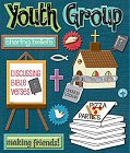 3D Youth Group Stickers