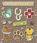 3D Veterinarian Stickers
