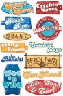Beach Phrases Stickers
