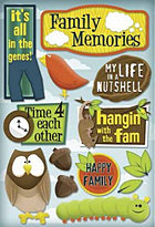 Family Time 4 Each Other Stickers