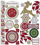 Metallic Days Of Christmas Stickers