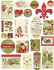 Vintage Christmas Holiday Stickers