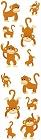 Playful Monkeys Stickers