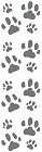 Cat Paw Prints Stickers