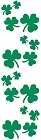 Green Shamrocks Stickers