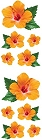 Orange Hibiscus Stickers