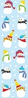 Tiny Snowmen Stickers
