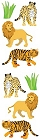 Lions And Tigers Stickers