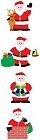 Smiling Santa Stickers