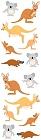 Kangaroos & Koalas Stickers
