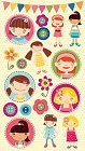 Cute As A Button Kids Stickers