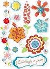 3D Summer Flowers Stickers
