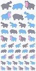 Hippos Kawaii Stickers