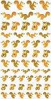 Squirrels Kawaii Stickers