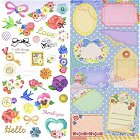 Embroidery Flowers Kawaii Stickers