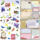 Birds & Letters Kawaii Stickers
