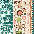 Olivia Flowers And Alphabet Stickers