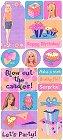 Birthday Barbie Stickers