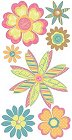 3d Pretty Flowers Stickers